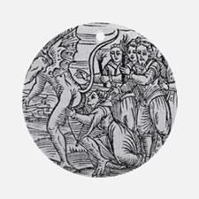 Adoration of the Devil, 17th centur Round Ornament