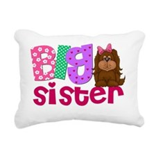 Big Sister Puppy Dog Rectangular Canvas Pillow