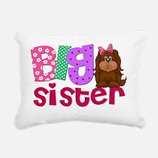 Big Sister Puppy Dog Rectangular Canvas Pillow