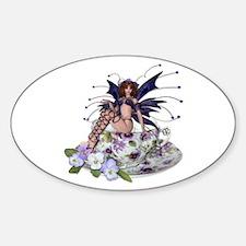 VIOLA Teacup Fairy Oval Decal