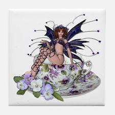 VIOLA Teacup Fairy Tile Coaster