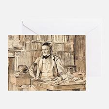 1883 Richard Owen's study ex BMNH Greeting Card