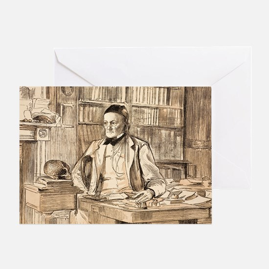 1883 Richard Owen's study ex BMNH Greeting Card