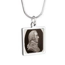 Adam Smith, philosopher an Silver Square Necklace