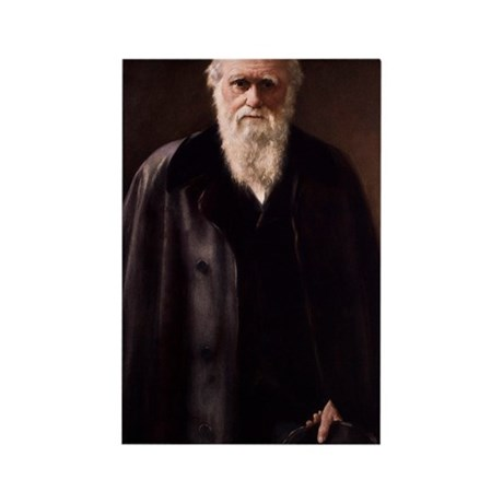 1881 Charles Darwin Portrait aftr Rectangle Magnet