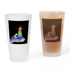 3D surface graph and hand, artwork Drinking Glass