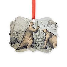 1862 Giant Ground Sloth Megatheri Ornament