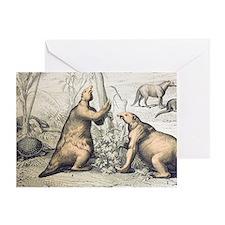 1862 Giant Ground Sloth Megatherium Greeting Card