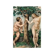1863 Adam and Eve from zoology te Rectangle Magnet