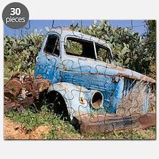 Abandoned truck outside Gazipasa Turkey Puzzle