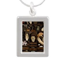 A cabinet of Curiosities Silver Portrait Necklace