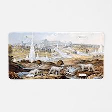 1854 Crystal Palace Dinosau Aluminum License Plate