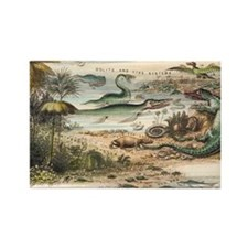 1849 The antidiluvian world crop  Rectangle Magnet
