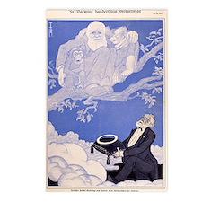 1909 Cartoon Darwin, apes Postcards (Package of 8)