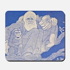 1909 Cartoon Darwin with Apes detail Mousepad