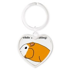 Dont bother me while Im eating! Heart Keychain