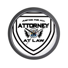 Attorney Badge Wall Clock