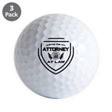 Attorney Badge Golf Ball
