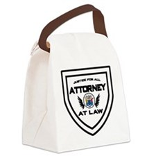 Attorney Badge Canvas Lunch Bag