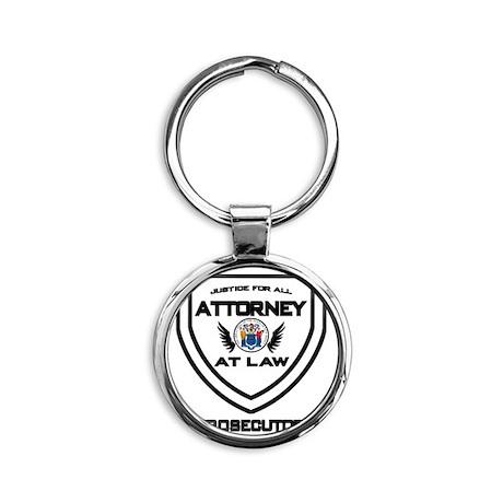 Attorney Badge - Prosecutor Round Keychain