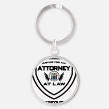 Attorney Badge - Prosecutor Round Keychain