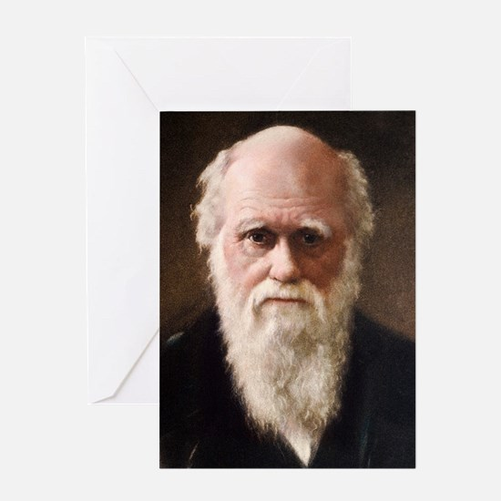 1881 Charles Darwin Face portrait Greeting Card