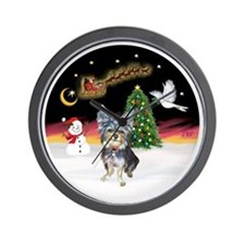 R-NightFlight-AussieTGerrier2 Wall Clock