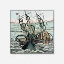 """1815 Collosal Polypus octop Square Sticker 3"""" x 3"""""""