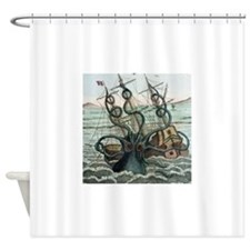 1815 Collosal Polypus octopus and s Shower Curtain