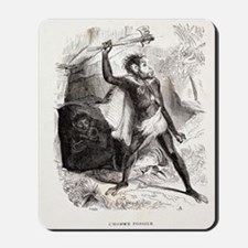 1861 Fossil Man by Boitard Mousepad