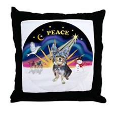 R-XSunrise-AussieTerrier2 Throw Pillow