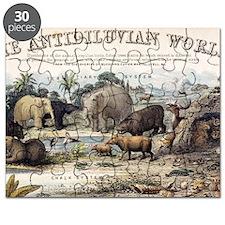 1849 The antidiluvian world crop Jurassic Puzzle