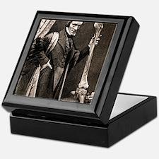1846 Richard Owen and Moa leg fossil Keepsake Box