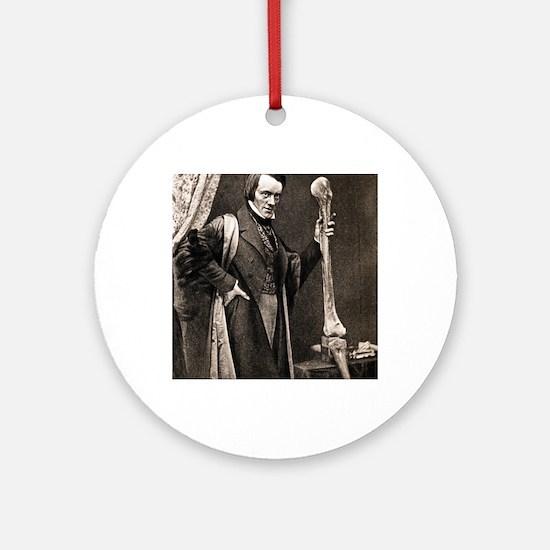 1846 Richard Owen and Moa leg fossi Round Ornament