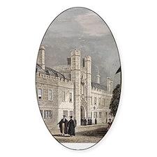1838 Darwin's Christ College Cambri Decal