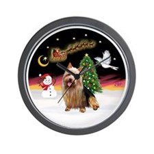 R-NightFlight-AussieTerrier1 Wall Clock