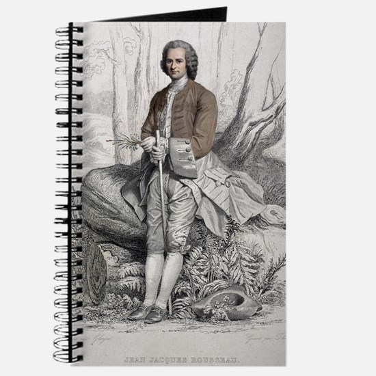 1764 Jean Jacques Rousseau Portrait Journal