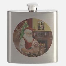 R-Santa-AussieTerrier1 Flask