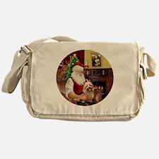 R-Santa-AussieTerrier1 Messenger Bag