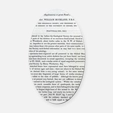 1824 Buckland's Megalosaurus first Oval Car Magnet