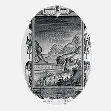 1731 Johann Scheuchzer Noah's Ark Fl Oval Ornament
