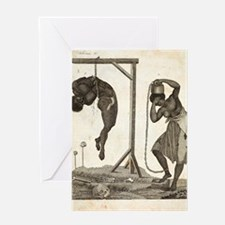 1810 Punishment of Slaves engraving Greeting Card