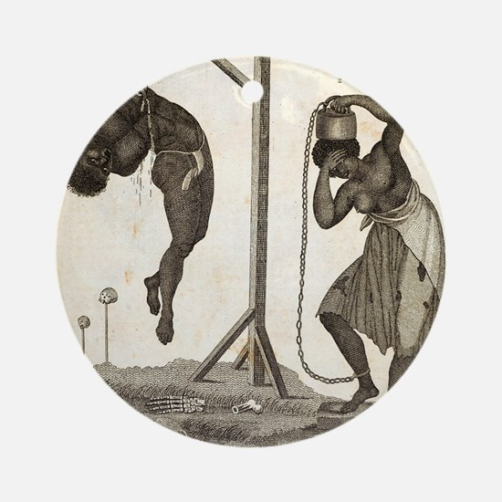 1810 Punishment of Slaves engraving Round Ornament