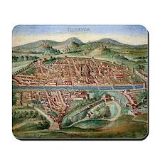 16th Century Plan of Florence Mousepad