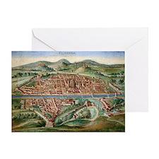16th Century Plan of Florence Greeting Card