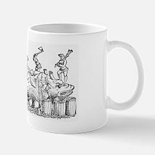 16th Century German woodcut print Mug