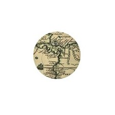 1698 W. Dampier Pirate Naturalist map Mini Button