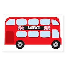 London Double-Decker Bus Decal