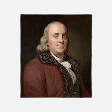 1778 Benjamin Franklin scientist Throw Blanket