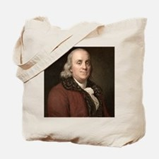 1778 Benjamin Franklin scientist Tote Bag